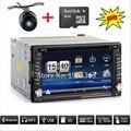 2017 novo 2 DIN Car DVD Player GPS Rádio Duplo Estéreo Em traço 2DIN Unidade de Cabeça MP3 CD estacionamento Câmera HD TV Vídeo Rádio áudio