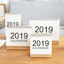 JIANWU 1pc Creative MUJI style Kraft paper 2018 2019 schedule desk calendar weekly planner memo school office stationery