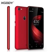 XGODY X6 3G смартфон с двумя sim картами Android 8,1 Oreo 5 дюймов 5 Мп камера мобильный телефон MT6580M четырехъядерный 1 Гб + 8 Гб 2500 мАч Мобильный телефон GPS