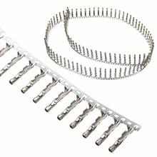 100 шт./компл. шаг 2,54 мм 1 Pin однорядные Перемычка Dupont провод кабель женский контактный разъем терминал для Перемычка Dupont провод кабель