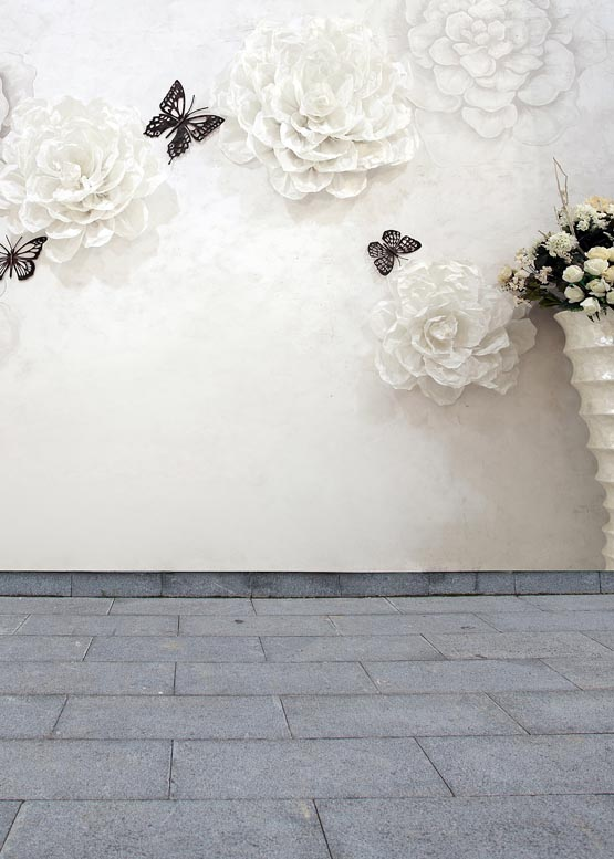 White flower and wall for wedding photo background droplights photography backdrops for photo studio photographic backgrounds