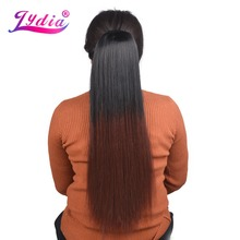 Lydia Heat Resistant Synthetic 18-24 Silky Straight Hair With Two Plastic Combs Ponytail Extensions All Colors Available