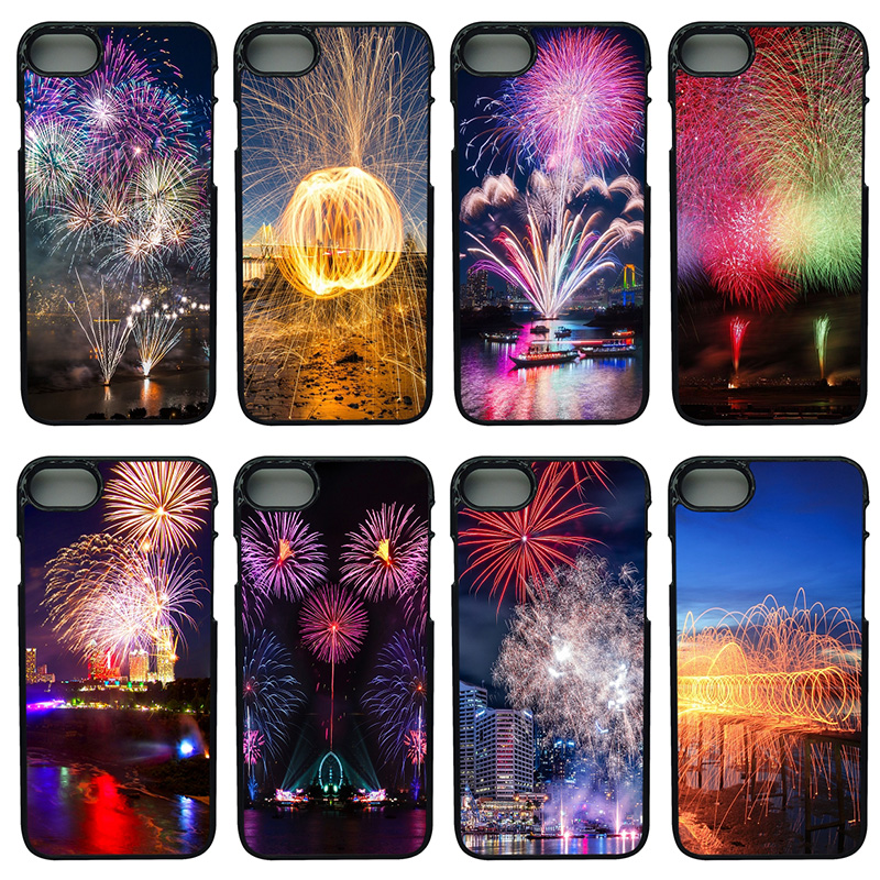 Beautiful Fireworks Mobile Phone Case Hard Plastic Anti-knock Cover for iphone 8 7 6 6S PLUS X 5S 5C 5 SE iPod Touch 4 5 6 Shell