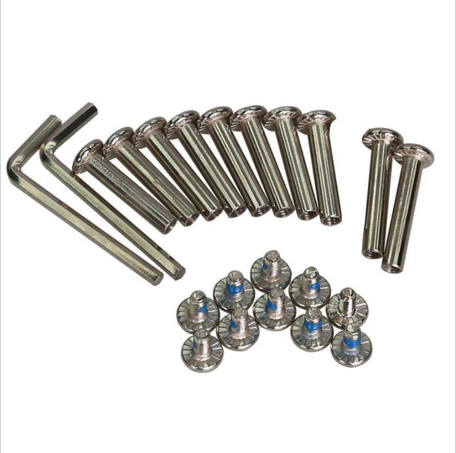 1 Set  10 Groups 3.0/3.5cm Inline Skates Universal Nail Screw Nut 1 Screws Nuts Wrenches Roller Skate Shoes Accessories