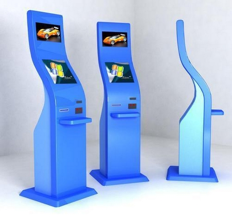 Custom 17+17 Inch HD LCD Dual Self Service Check Machine Network 3g 4g Wifi Terminal Kiosk Electronic Consumer Machine