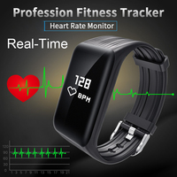 Wearpai Real Time FitnessTracker Watch IP68 Waterproof Wireless Smart Bracelet With Continuous Heart Rate Monitor VS