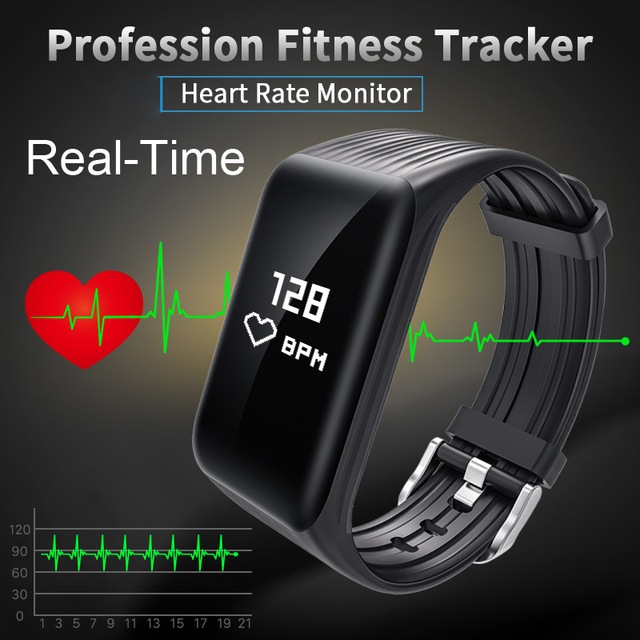 Wearpai real-time FitnessTracker Horloge IP68 Waterdichte Draadloze Smart Armband met Continue Hartslagmeter VS FITBIT