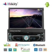 Hikity автомобильный dvd-плеер стерео радио 1 din 7 «Android gps fm-приемник карта памяти SD Bluetooth в-тире Автомобильный Радио мультимедийный плеер