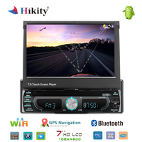 Hikity Car DVD Player Stereo Radio 1 din 7 Android 8.0 GPS FM Receiver USB SD Bluetooth In Dash Car Radio Multimedia Player