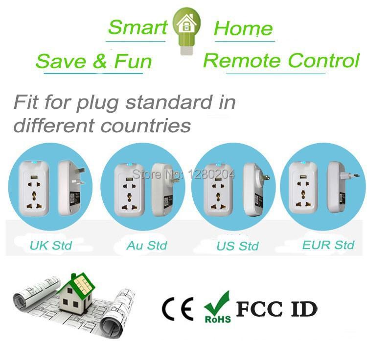 Eruiklink High Quality 110v 220v Eu Uk Us Wifi Smart Plug Power