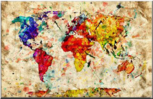 The World Map Home Decoration 5D Diy Diamond Painting Resin Full Mosaic Embroidery Needlework Watercolor Art