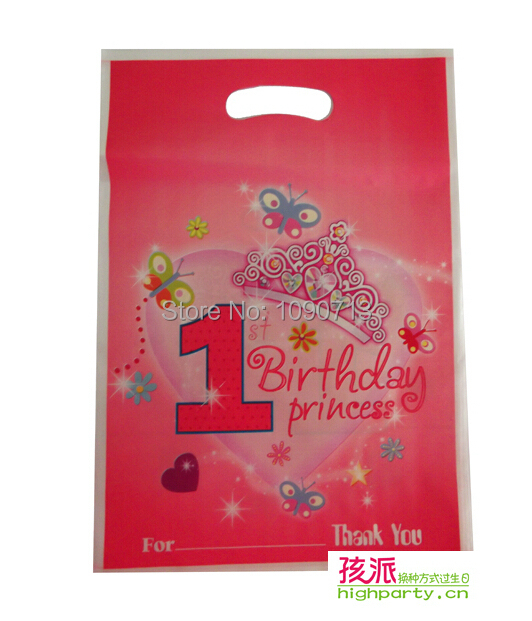 Free Shipping 12Pcs Lot 1st Birthday Gift Bag Children Party Gifts Favor