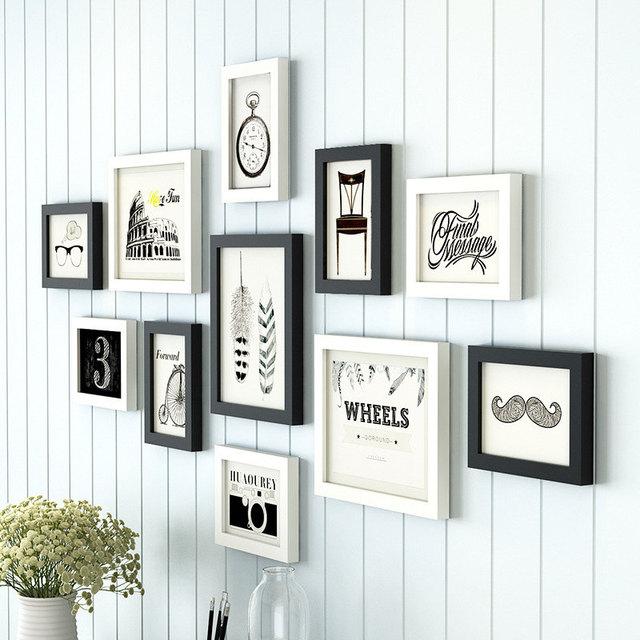 Estilo europeo 11 unids/set marco blanco negro, creativo Photo ...