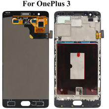 5.5 inch LCD Display For Oneplus 3 Three Tested Screen With Frame Assembly Digitizer Replacement For Oneplus 1+ 3 A3000 A3003 for oppo oneplus 3 a3000 rai lcd display with touch screen digitizer assembly by free dhl 100% warranty 10pc lot