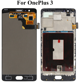 5.5 inch LCD Display For Oneplus 3 Three Tested Screen With Frame Assembly Digitizer Replacement For Oneplus 1+ 3 A3000 A3003