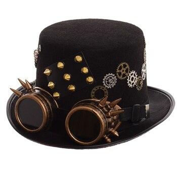 Шляпа в стиле стимпанк с очками в ассортименте вариант 3