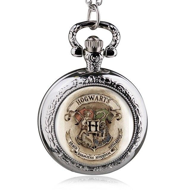 Antico Medio Hogwarts Tasca Del Quarzo Del Mens Analogico Del Pendente Della Col