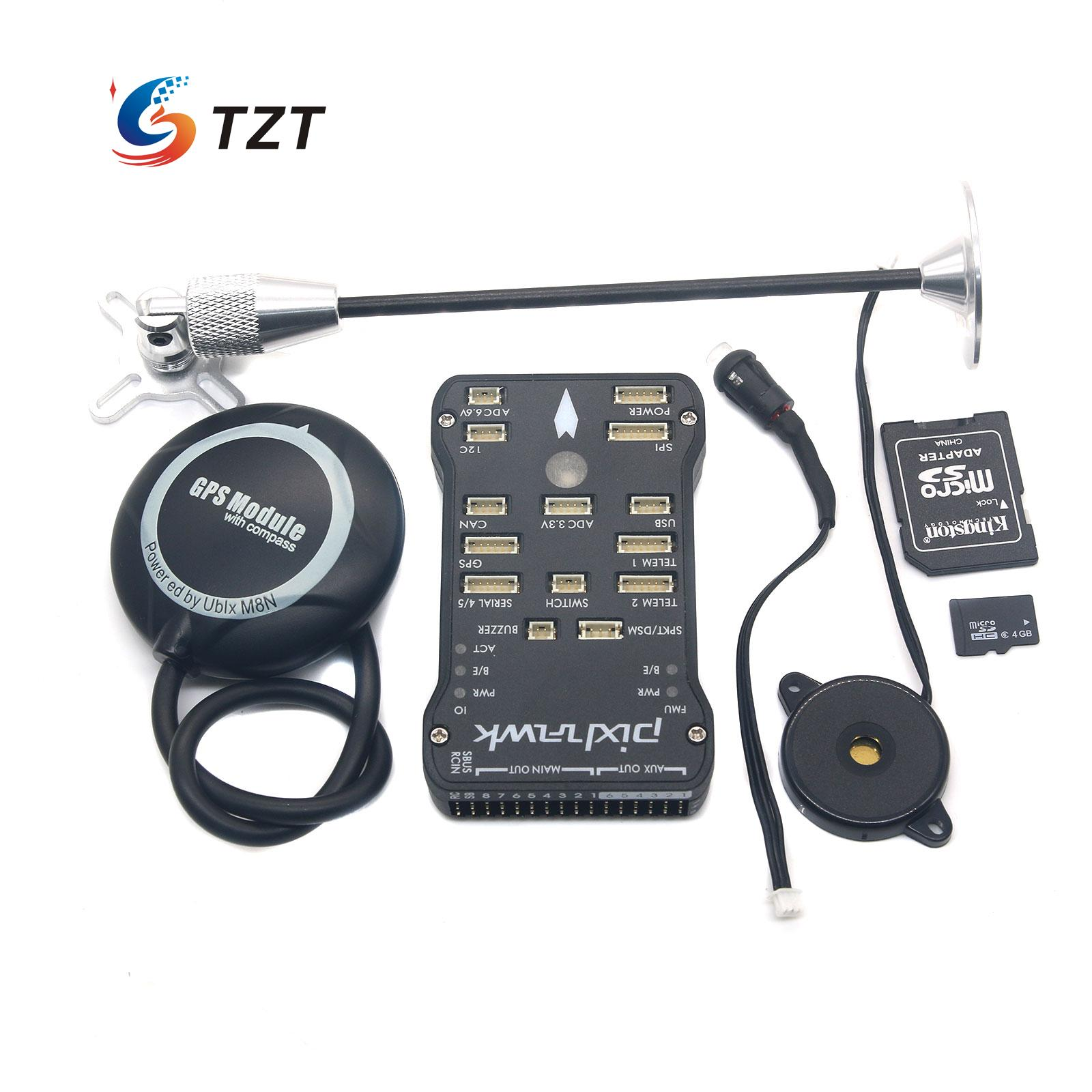TZTPIX Pixhawk Fligtht Controller 32Bit + M8N GPA +SD 4G Card + GPS Bracket for FPV Quadopter Drone pixhawk flight control px4 2 4 8 new 32 bit m8n gps kit for uav multi axis fixed wing drone f22159