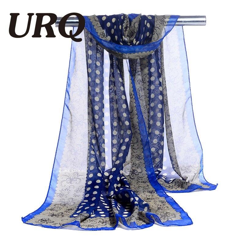 bufanda de gasa estampado de punto y encaje bufanda de mujer seda - Accesorios para la ropa - foto 5