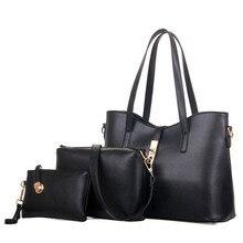 3 Sets Fashion Composite Bags PU Leather Women Shoulder Bags 2016 Hot Sale Women Handbag+ Messenger Bag+Clutches Purse Lady T332