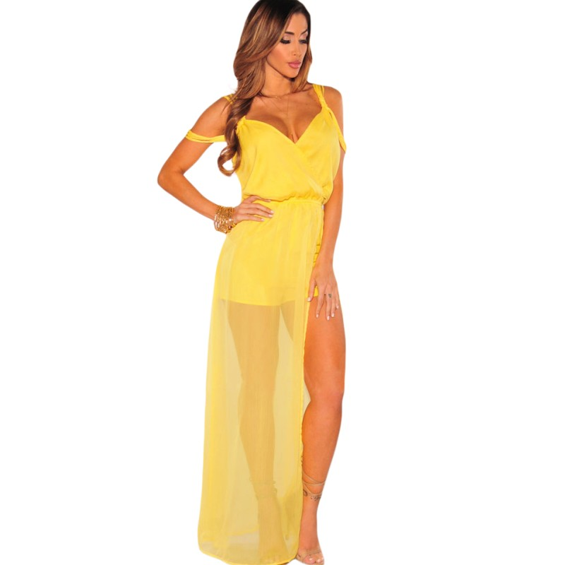 Online Buy Wholesale yellow jumpsuit from China yellow jumpsuit ...
