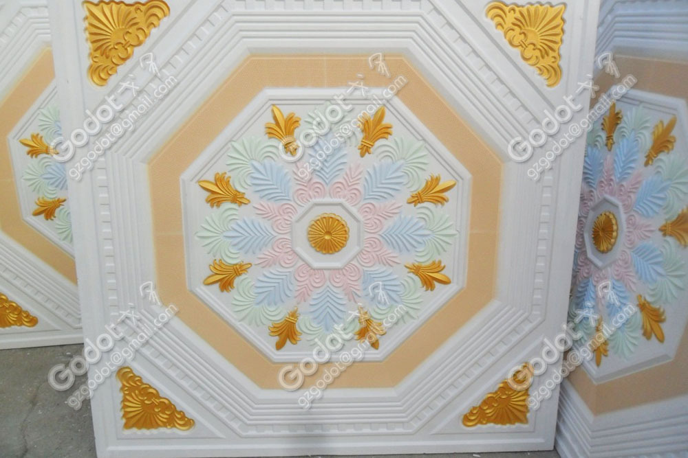 The Colour High Quality Gypsum Ceiling Tile For Home Decoration On