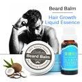 Para después del afeitado Bálsamo aceite de Cera para el peinado + Crecimiento de la Barba Bigote Barba barbas pelo Espeso Bigote patillas Gruesas Esencia Tratamiento
