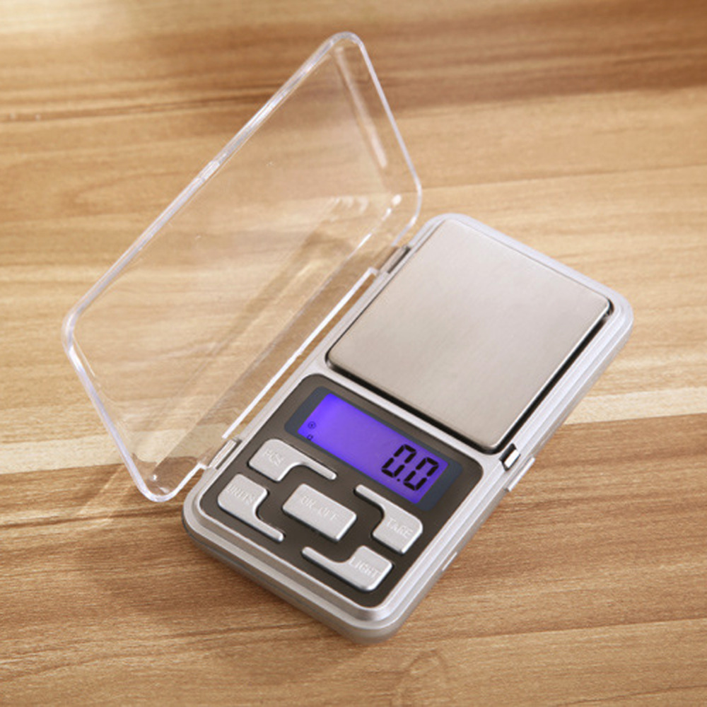 Digital Pocket Scale Portable LCD Electronic Jewelry Scale Gold Diamond Herb Balance Weight 200x0.01g 500x0.1g with Backlight