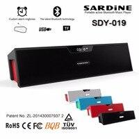 SARDiNE SDY 019 Portable Wireless Bluetooth Speakers With Alarm Clock LCD Time Display Big Power 10W