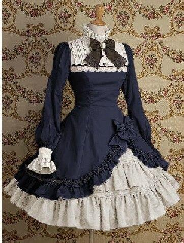 Gothique Punk coton deux pièces Lolita robe Costumes