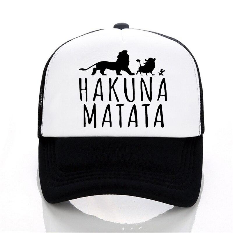 New Hakuna Matata letter print baseball caps men Women Summer Mesh cap Fashion outdoor sunhat men trucker cap
