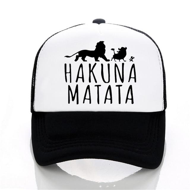 New Hakuna Matata letter print baseball caps men Women Summer Mesh cap  Fashion outdoor sunhat men trucker cap b77b27ade