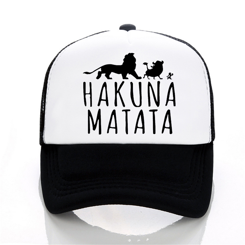 New Hakuna Matata letter print   baseball     caps   men Women Summer Mesh   cap   Fashion outdoor sunhat men trucker   cap