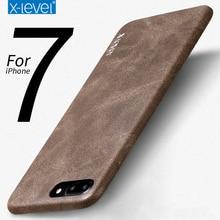 Для iPhone 7 плюс оригинальный X-уровень ультра тонкий кожаный простой и элегантный Бизнес Стиль Телефонные Чехлы Drop Защитная крышка
