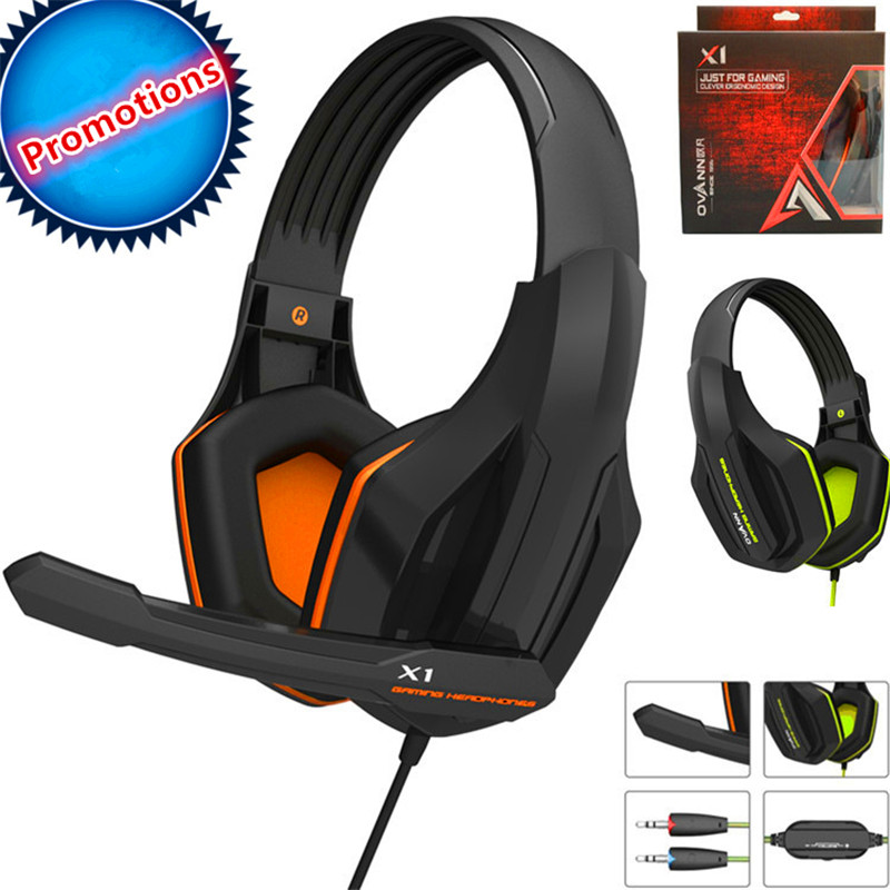 2017 Top Quality Professional Super Bass Over-ear Gaming Headset with Microphone Game Stereo Headphones for Gamer PC Computer game over