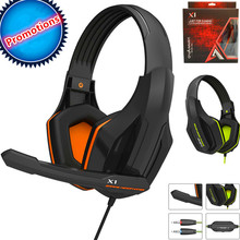 Cheaper 2017 Top Quality Professional Super Bass Over-ear Gaming Headset with Microphone Game Stereo Headphones for Gamer PC Computer