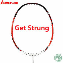 100% Original Kawasaki Full Carbon Badminton Racket Raquette Badminton With Gift(China)