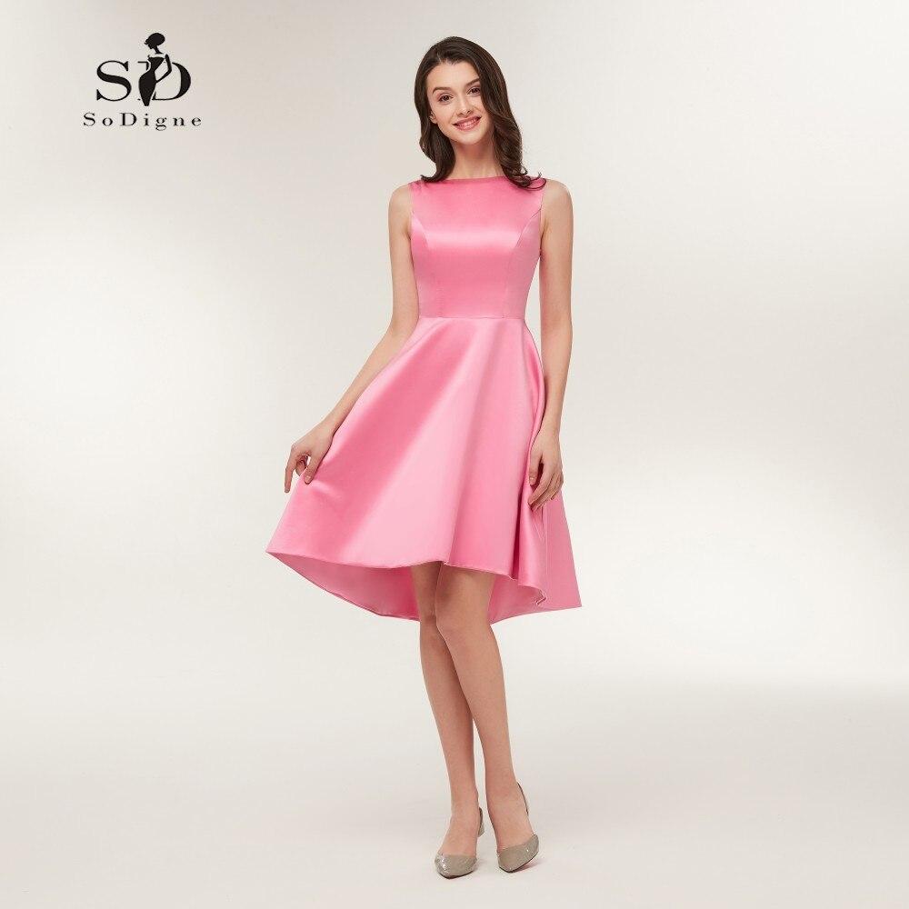 kurze kleider 2018 a-line brautjungfer kurzes kleid günstige einfache kleid  elegante prom kurzes kleid
