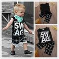 Baby set 2016 New Boy Clothing Set cotton Sleeveless Shirt + Shorts Kid Boy Summer sport Set suit Children Clothes Set