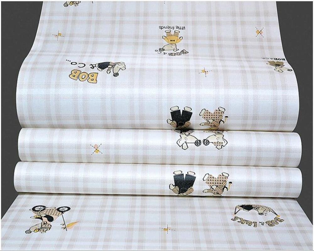 beibehang Non woven waterproof children 39 s room warm bedroom cute mouse cartoon environmental wallpaper papel de parede behang in Wallpapers from Home Improvement