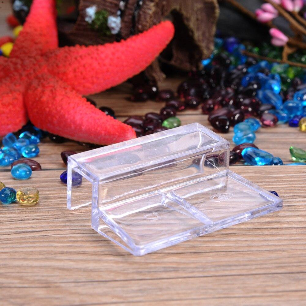 Aquarium fish tank plastic cover - Acrylic Aquarium Glass Fixed Cover Clip Fish Tank Clamp Bracket Holder Shelf Lamp Filter Barrel Rack