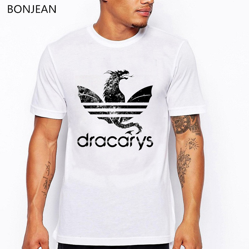 Game Of Throne Dracarys T Shirts Unisex Adults Harajuku Vintage Style T-Shirt Camisetas Hombre Tshirt Men Clothing Streetwear