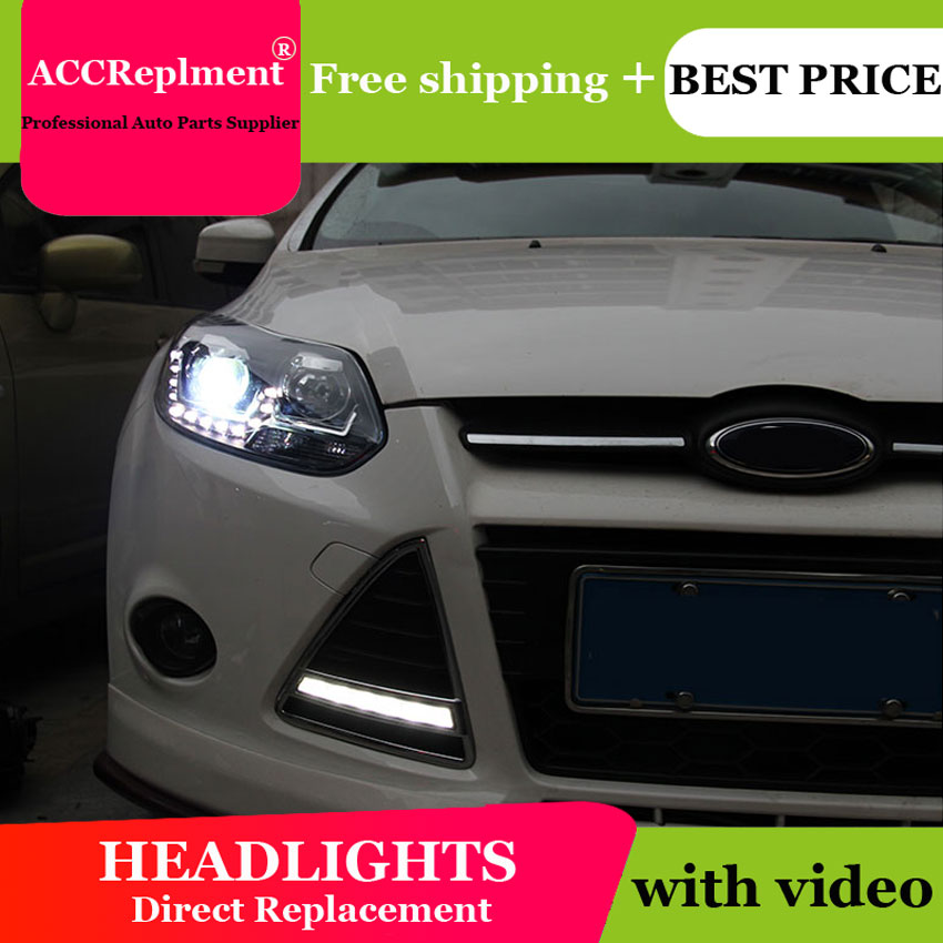 AUTO.PRO LED headlights For focus 2012 2014 Bifocal lens H7 xenon head lamps For Focus LED lights DRL car styling-in Car Light Assembly from Automobiles & Motorcycles    1