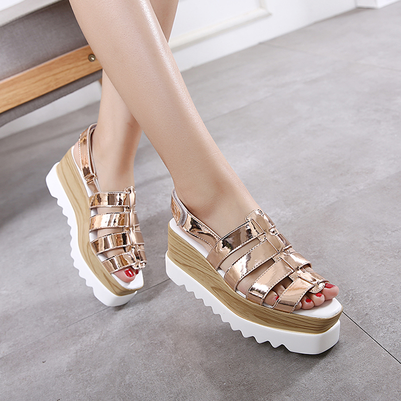 2017 new Leisure fashion platform sandals Open toe women shoes gladiator sandals women Casual wedges shoes for women sandals phyanic 2017 gladiator sandals gold silver shoes woman summer platform wedges glitters creepers casual women shoes phy3323