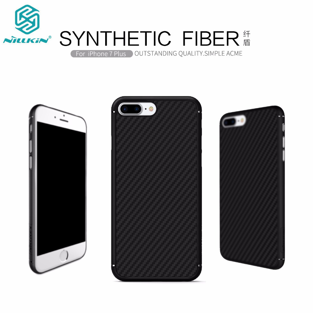 Nillkin Case for iphone 7 plus Synthetic Fiber Top Quality Hard Carbon Fiber PP Plastic Back Nilkin Case for iphone 7 plus