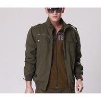 Men's Loose Comfortable Jacket Mens Coats Fashion Casual Men Jacket Army Green Male Tops Size M XXXL
