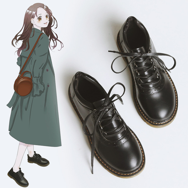 Vintage Oxford Shoes For Women Pu
