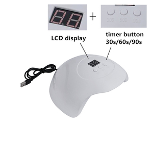 Image 2 - New 30W Nail Dryer UV LED Lamp for All Type Nail Gel Polish Curing USB Lamp for Manicure LCD Display Nail Art Tool