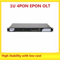 4 PON Ports EPON OLT Equipment, With SFP modules,1 U