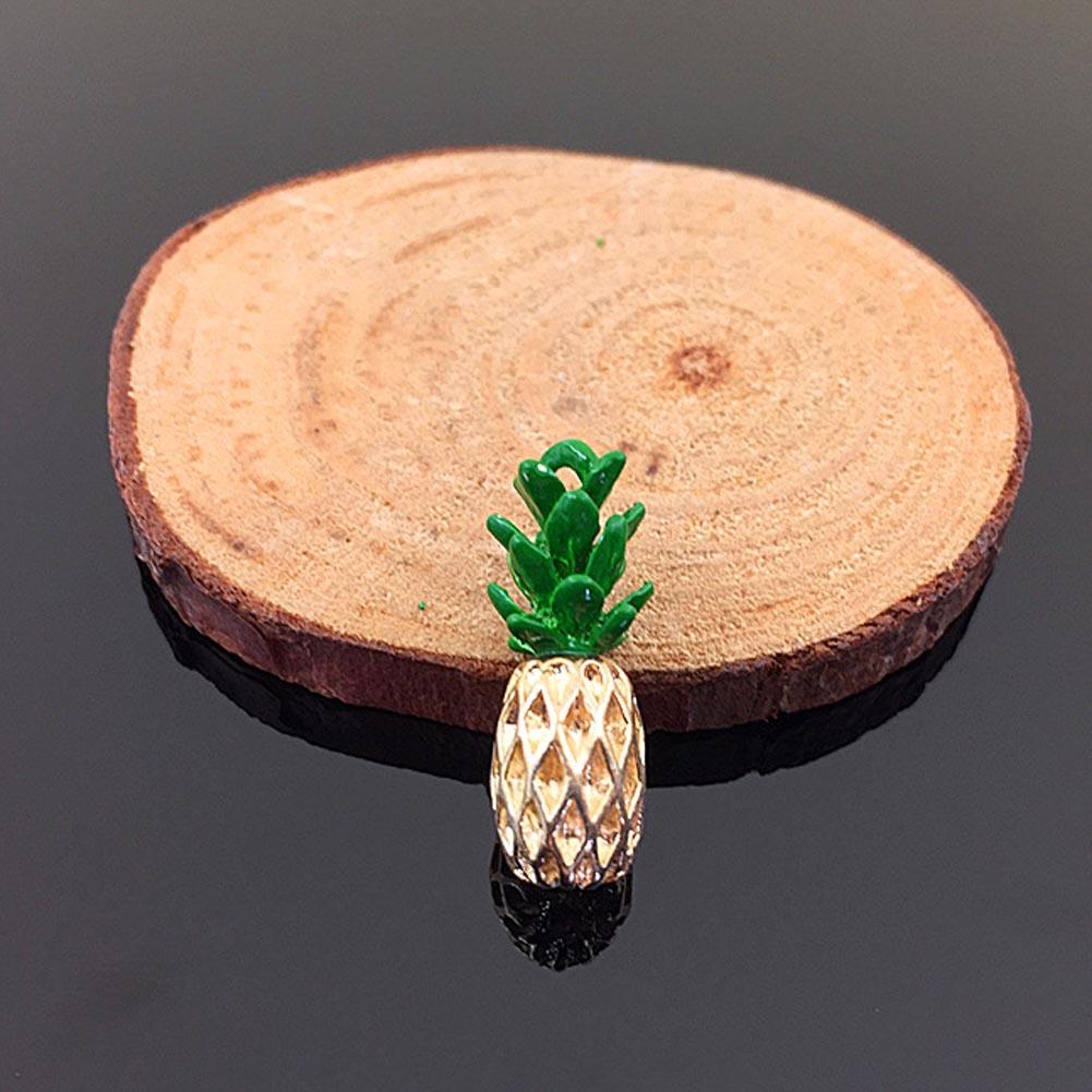 Cute Fruit Pineapple Pendant For Necklace&Bracelet Pineapple Charms Ananas Pendant DIY Making Wholesale